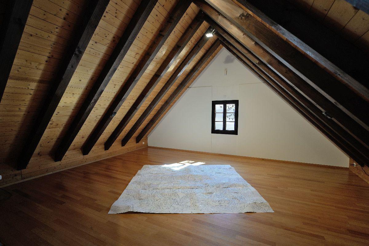 Plan, 2013, Filzstift auf Papier, 240 x 256 cm - Raum für zeitgenössische Kunst Meggen