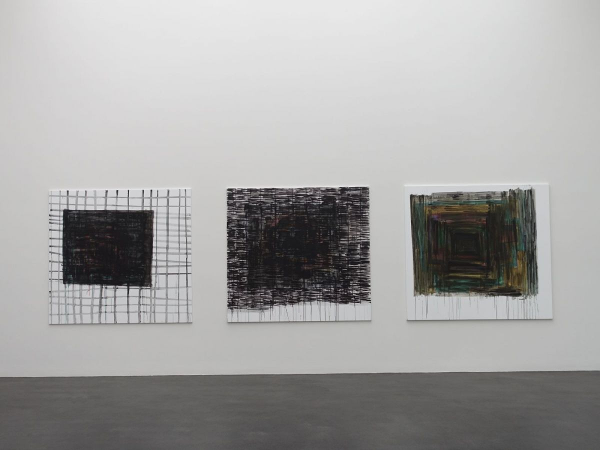 ohne Titel, 2018, Acryl auf Baumwolle, je 168 x 180 cm - Kunstmuseum Luzern