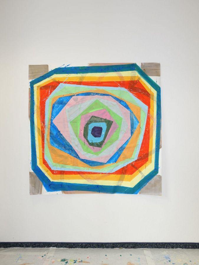 Lied, 2018, Acryl auf Papier, 133 x 134 cm