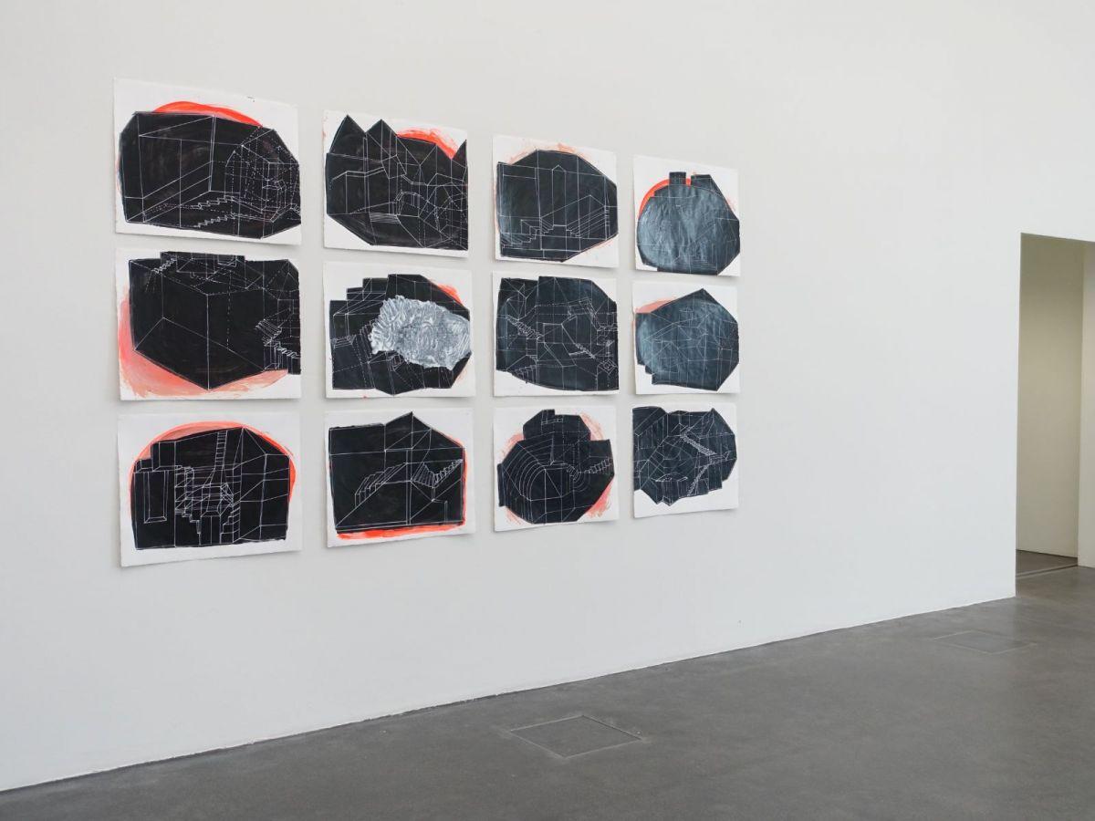 an dieser Stelle, 2015, Arcyl und Lack auf Bütten, je 50 x 65.5 cm - Kunstmuseum Luzern