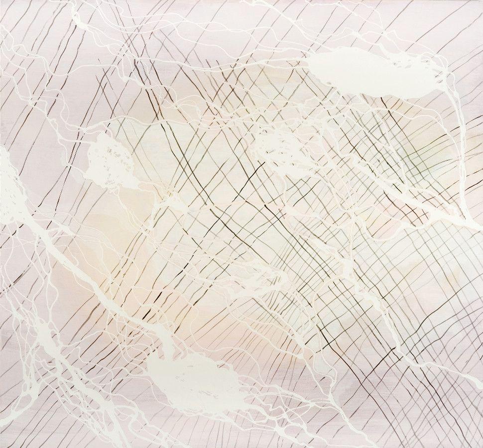 Delta 9, 2008, Acryl und Lack auf Baumwolle, 168 x 180 cm