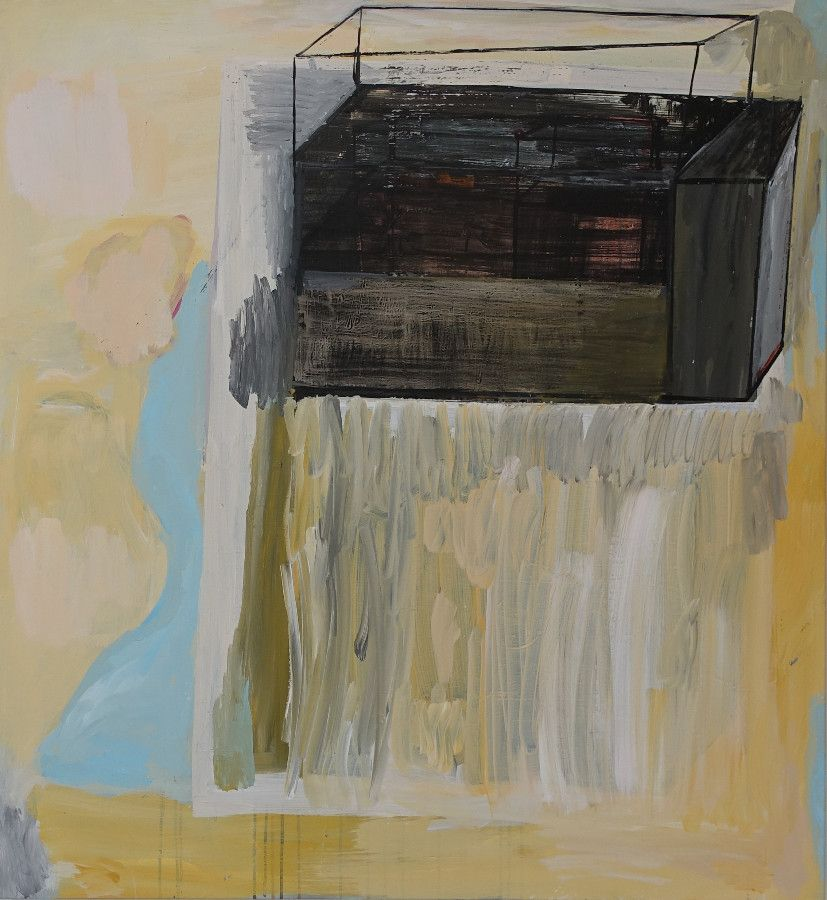 <p>Raum 26, 2021, Acryl auf Baumwolle, 118 x 109 cm</p>