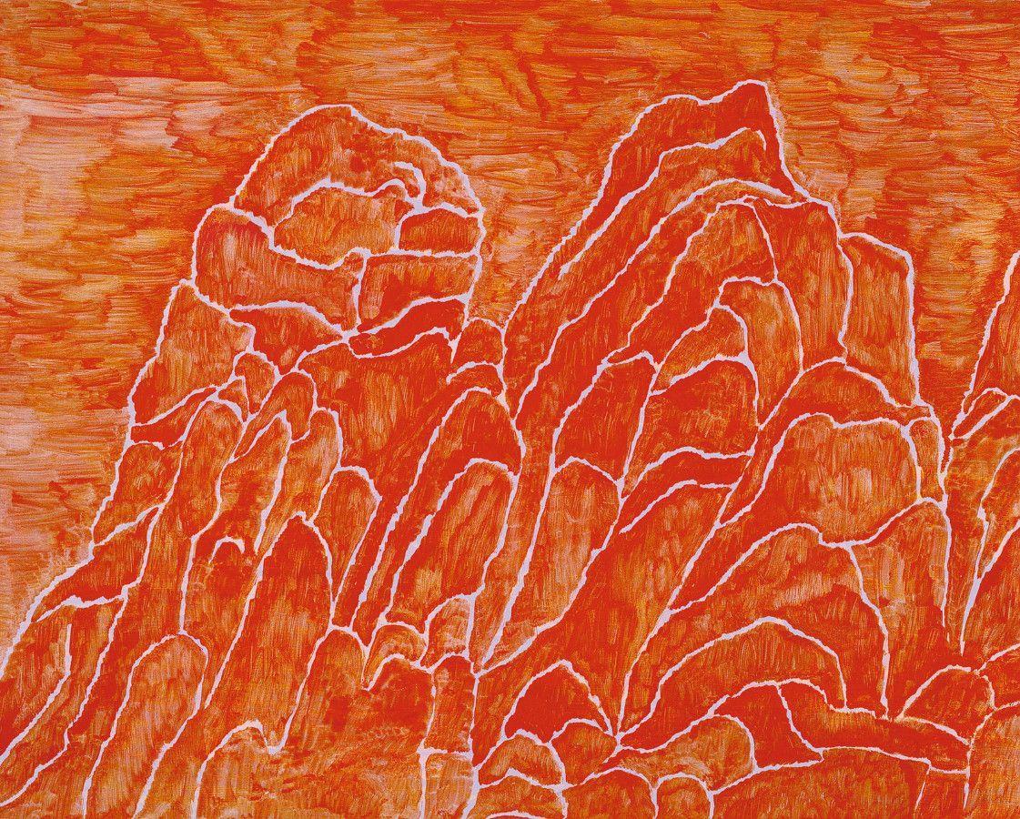 tiefer Abend, 2003, Acryl auf MDF, 80 x 100 cm