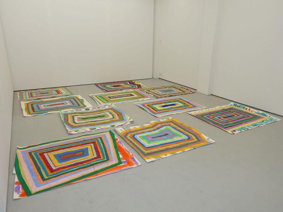 Weite Weile, 2018, Acryl auf Papier, je ca. 130 x 150 cm - Galerie Kriens