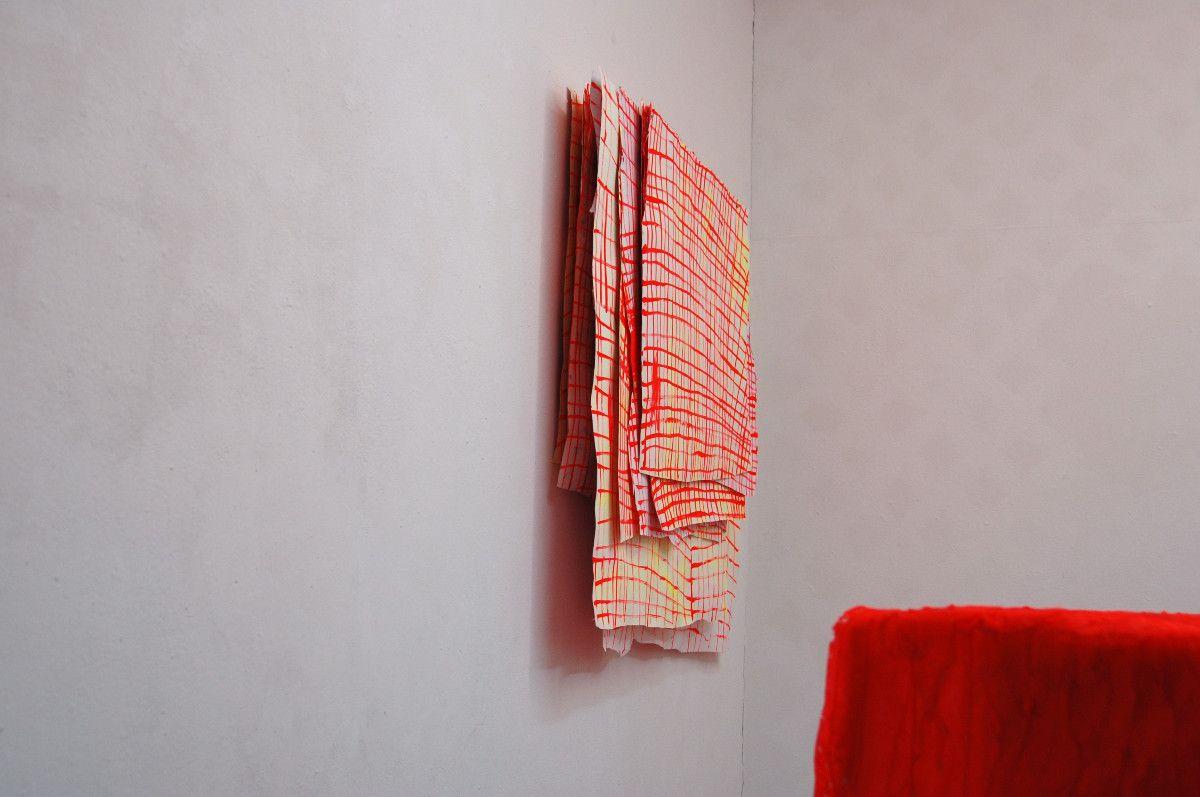 Raster, 2011, Acryl auf Papier, ca. 90 x 95 x 10 cm - Galerie Apropos Luzern
