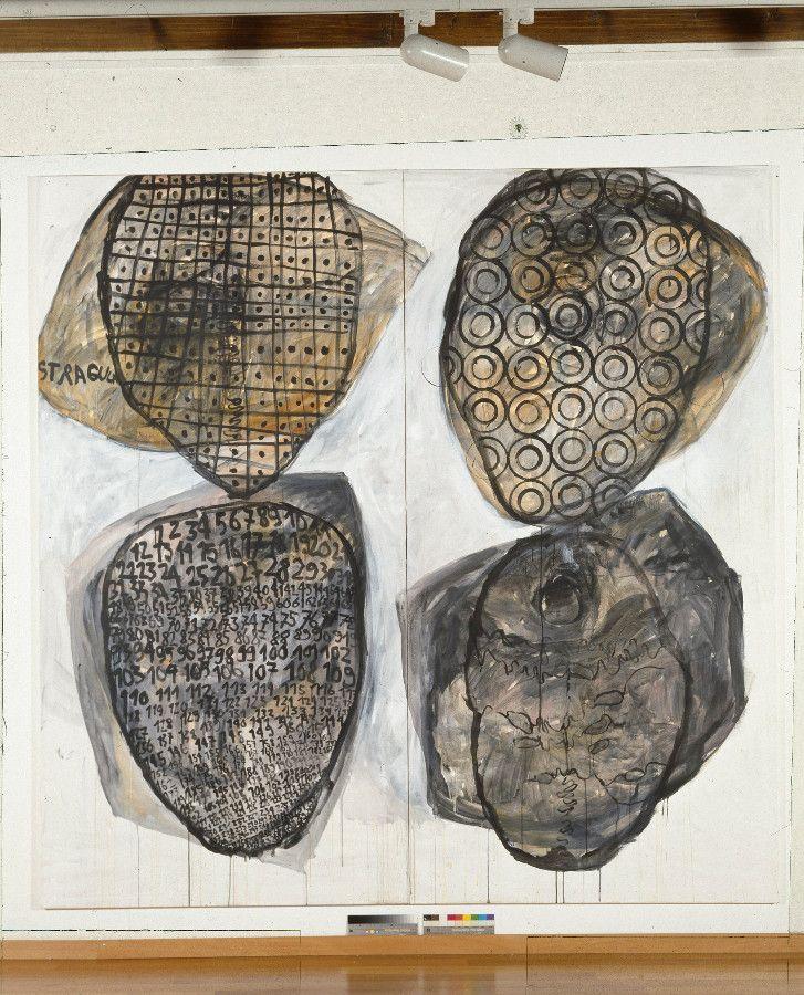 ohne Titel, 1992, Acryl Auf Baumwolle, 210 x 210 cm