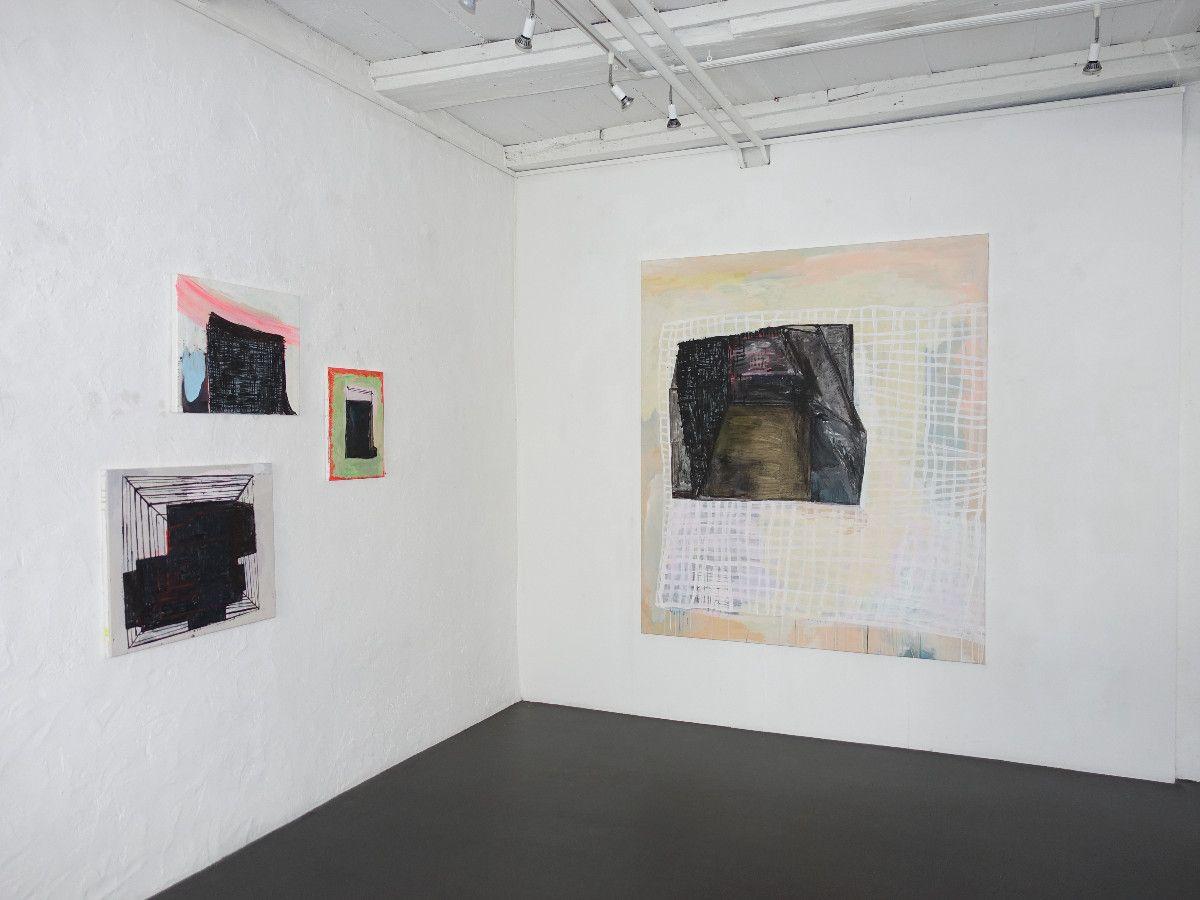 <p>Arbeiten 2020 und 2021, Acryl auf Baumwolle, diverse Formate - Galerie Carla Renggli, Zug</p>