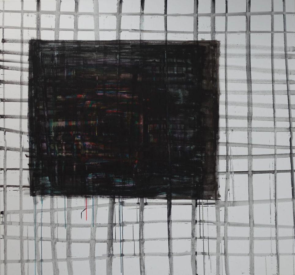 ohne Titel, 2018, Acryl auf Baumwolle, 168 x 180 cm - Kunstmuseum Luzern